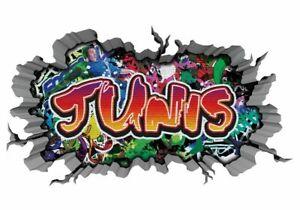 3D Wandtattoo JUNIS Graffiti Aufkleber Wandbild Wandsticker Junge 11MD372