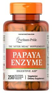 Puritan's Pride Papaya Enzyme 250 Chewable Tablets