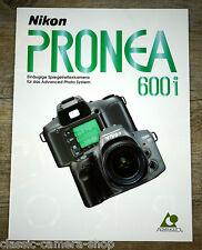 Prospekt NIKON PRONEA 600i Spiegelreflexkamera und Objektive Broschüre (X4099