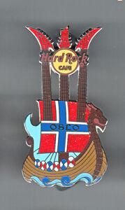 Hard Rock Cafe Pin: Oslo Viking Ship Guitar le150