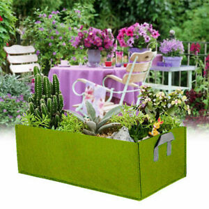 5Colors Thickness Square Fabric Grow Bags with Handles Garden Planting Container