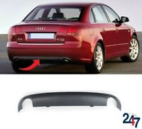 NEW AUDI A4 B7 2005 - 2008 REAR BUMPER LOWER SPOILER WITH TWO EXHAUST HOLES