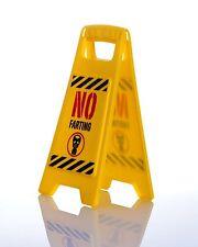 No Farting Warning Sign for your work desk Caution secret Santa joke gift