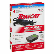 Tomcat Mouse Killer 4 Disposable Bait Stations (Per Package) US Seller