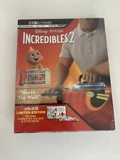 Disney Pixar Incredibles 2 4K Uhd Blu-Ray Digital Code Limited Edition New