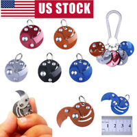 Coin Knife Keychain Folding Pocket Camping Hiking  EDC Blade Survival Mini Tools