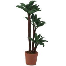 Dollhouse Miniature Pot Green Leafed Plant Garden decoration W3N7