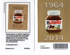 1592 NO CODICE A BARRE TESSERA NUTELLA i 2 lati ANNO 2014