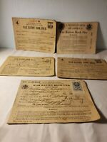 VTG 1940 USGPO WWII 4 War Ration Books 1-4 Cards Stamps Coupons Clippings sscb1