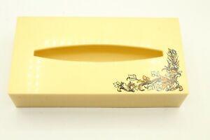 Vtg Mid Century Plastic Tissue Box Cover Yellow