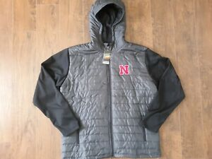 Colosseum Nebraska Cornhuskers NCAA Hoodie Jacket Mens Sz 2XL Football