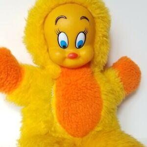 Rare Vtg 1978 Marriott's Great America Warner Bros Tweety Rubber Face Plush Toy