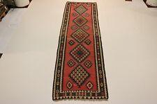 S.Antik feine Nomaden Kelim Unikat Perser Teppich Orientteppich 4,30 X 1,25