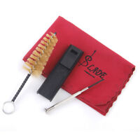 Clarinet Saxophone Cleaning Care Kit 4pcs Set Reed Case Brush Screwdriver