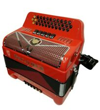 Excalibur Crown Series Button Accordion 5 Switch Red