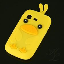 Samsung Galaxy Pocket S5300 Soft Silikon Case Schutz Hülle Etui Chicken Gelb 3D