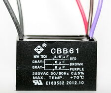 CEILING FAN CAPACITOR CBB61 4.5uf+6uf+8uf 5 Wire