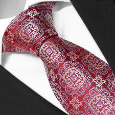 Cravate LUXE de Marque Française SOIE Rouge à Motifs -Tie Necktie Red Cravatte