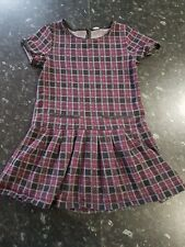 Girls black / red checked tunic top age 9 years