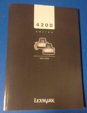 Manual LEXMARK 4200 Series Fax Scanner User's Guide PN 21C0120 EC 3T0002 3/04