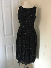 size 8 black chiffon sport dress Dorothy Perkins brand new