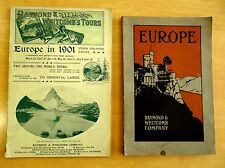 2 Ad Books Raymond Whitcomb's EUROPE 1901 & 1912 WORLD TOURS ORIENTAL LANDS