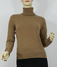 Ralph Lauren Polo Womens Sweater Small Beige Turtleneck Cashmere