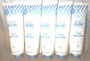 Body Glow x 5 Skinny Tan Aftersun Cooling Gel & Instant Tanner 250ml New joblot