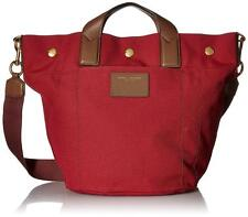 MARC JACOBS, Canvas/Leather Tote Bag, Burgundy/Brown, Gold Details, NWOT, $350