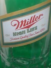Vintage 38oz Miller High Life Beer Super Mug - 8 Inches Tall! - 1980s
