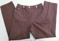 Women's Size 6 St. John Sport Chocolate Brown Straight Leg Dress Pants Slacks