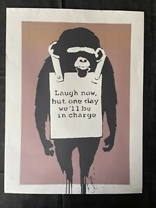 BANKSY - Litho signed and numbered on paper - Laught now