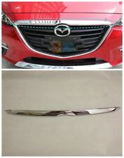 Chrome Front Hood Grill Around Cover Trim For 2014 2015 Mazda 3 Axela