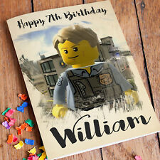 LEGO CITY Personalised Birthday Card FREE Shipping | Son Grandson Brother Nephew