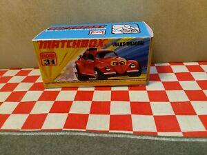 Matchbox Superfast No31 Volks Dragon EMPTY Reproduction Box Only  NO CAR
