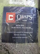 "CHAPS BATH RUG 24"" X 40"", MADE IN USA, BRAND NEW, SLIP RESISTANT BACKING, $59.99"