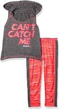 Reebok Girls 2 Piece Can't Catch Me Legging Set Size 4 5 6 6X $44