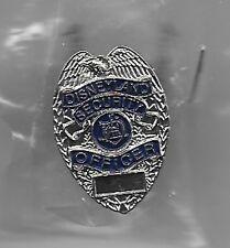 DISNEY CAST SECURITY OFFICER POLICE BADGE REPLICA DISNEYLAND PIN NEW in PLASTIC