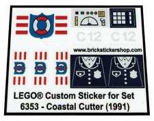 Lego® Custom Transparant Pre-Cut Sticker for Coast Guard 6353 - Coastal Cutter