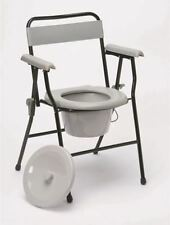Ultra Lightweight Folding Portable Commode Toilet Chair Mobility Disability Aid