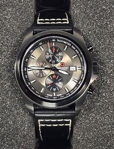 Swiss Military HANOWA Bennett Men's Chrono Black Quartz Watch SM33786 10ATM 42mm