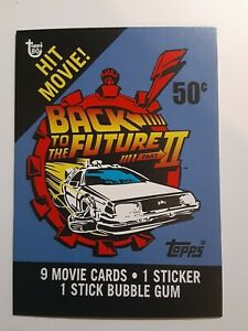 Topps 80th Anniversary WRAPPER ART CARD Back to the Future PART 2/II