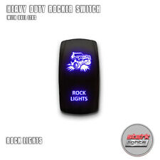 BLUE Laser LED Rocker Switch 5PIN Dual Light 20A ON OFF For Jeep - ROCK LIGHTS