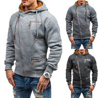 Mens Winter Hoodies Warm Hooded Sweatshirt Coat Jacket Outwear Sweater Tops Zip
