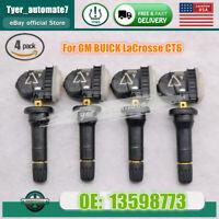 4PCS 13598773 Tire Pressure Sensors 433MHz TPMS For GM BUICK LaCrosse CT6