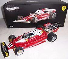 Mattel Hotwheels ELITE BLY40 1976 FERRARI 312 T2 #1 Niki Lauda 1:18 Diecast MIB