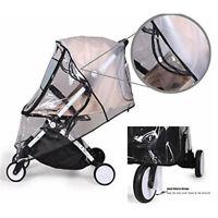 Universal Pushchair Rain Cover Baby Stroller Pram Travel Waterproof Clear Cover