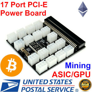 HP PCI-E 17x 6Pin Power Supply Breakout Board Adapter for HP Server PSU GPU USA