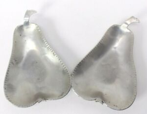 VTG HAND FORGED EVERLAST Set Aluminum Pear Design Nut Dish hors d'oeuvres Tray