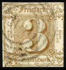 THURN UND TAXIS, 3 SILBERGROSCHEN, 1863, MICHEL # 31, RING CANCELLATION # 300